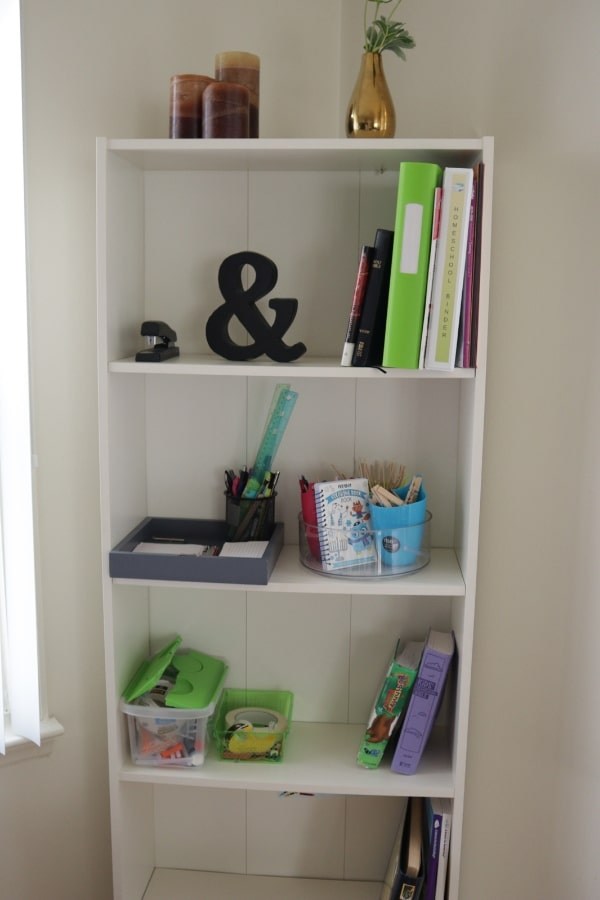 Homeschool Organization Bookshelf