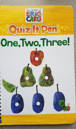 Eric Carle quiz it pen one, two, three book