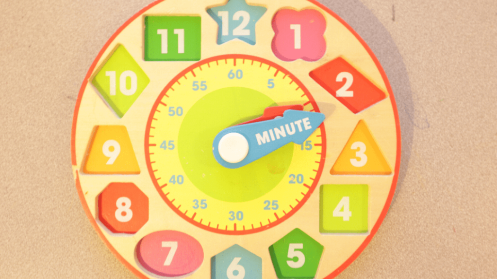 Preschool Clock Learning