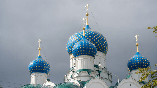 Five in a Row Russian Onion Dome