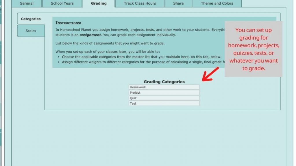 Homeschool Planet Grading