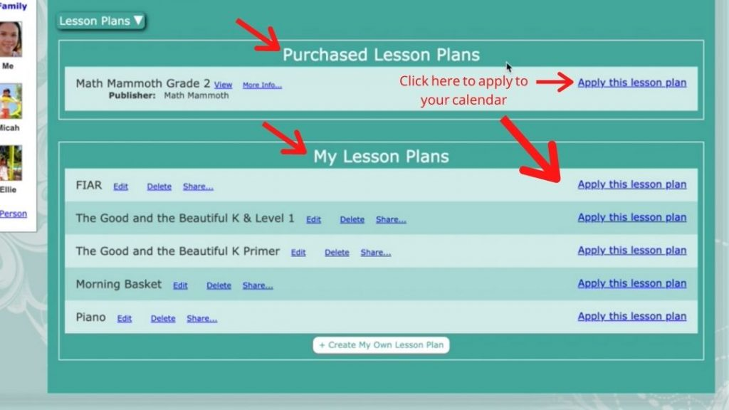 Homeschool Planet Lesson Plans View