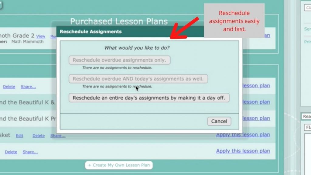 Homeschool Planet Rescheduler Helper