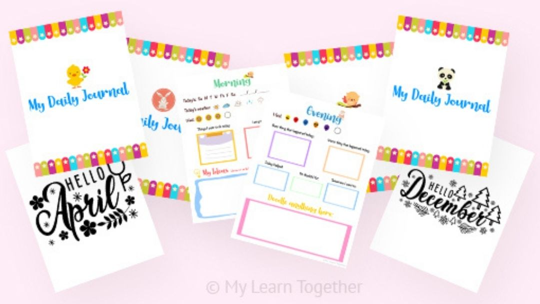 free daily prompt journal for kids