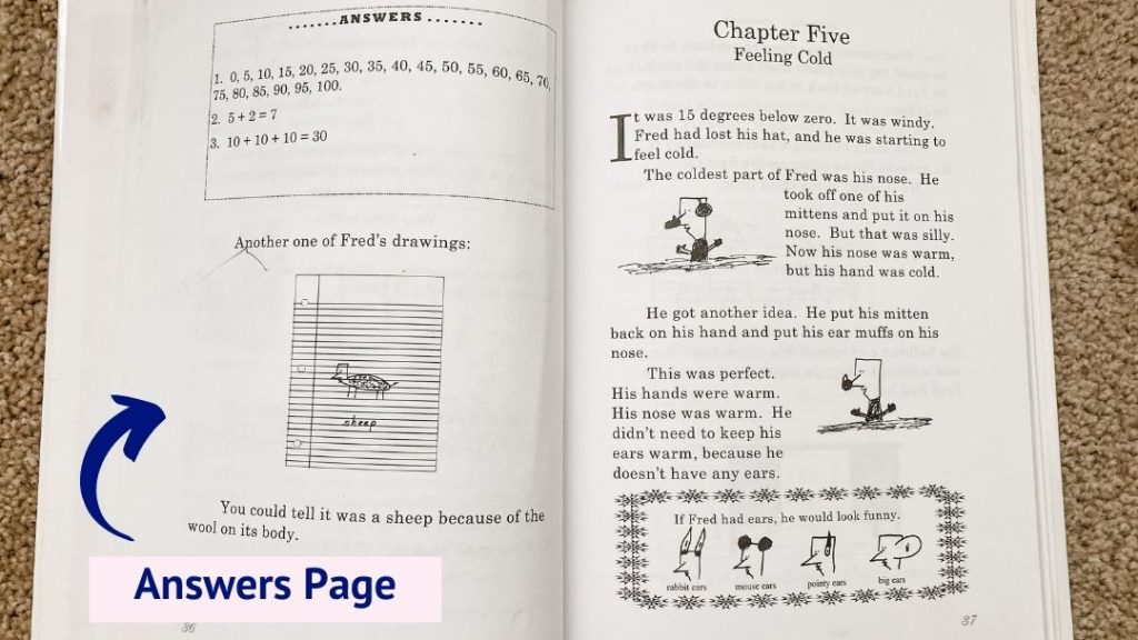 This is a sample of the answers page from the homeschool math curriculum, Life of Fred.